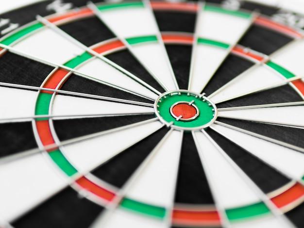 Close-up van kleurrijk dartboard