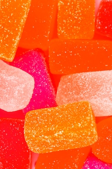 Close-up van kleurrijk geleisuikergoed