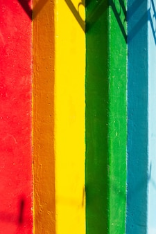 Close-up van kleurrijke trappen. natuurlijke abstracte achtergrond.