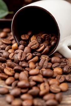 Close-up van koffie concept