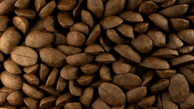 Close up van koffiebonen