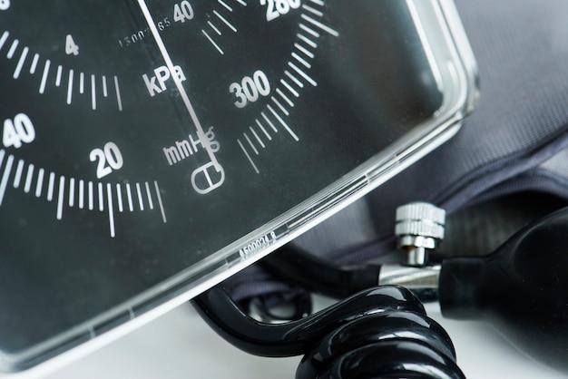 Close-up van manometerhulpmiddel