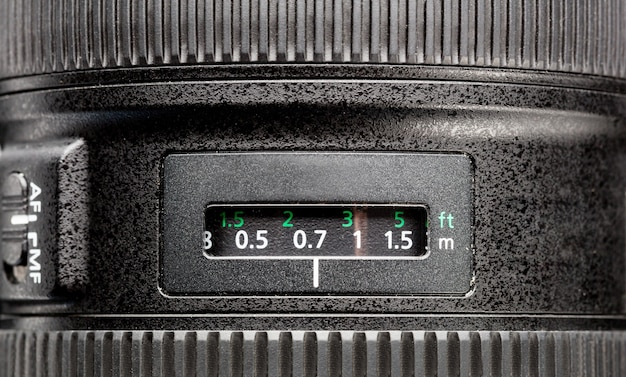 Close up van moderne zwarte camera
