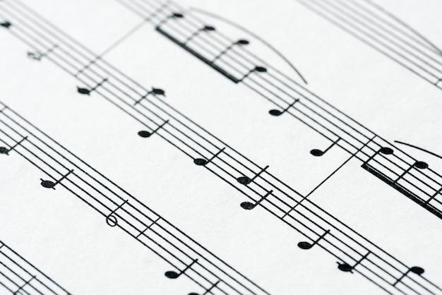 Close-up van muziekblad