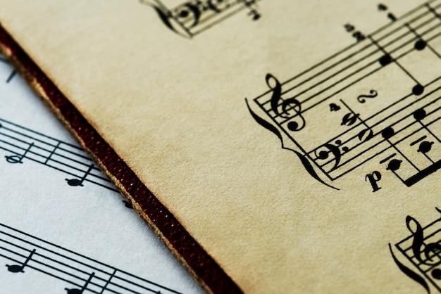 Close-up van muzikale blad