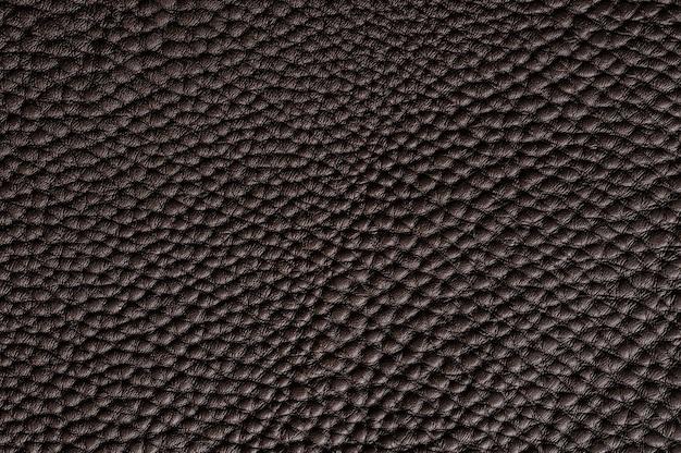 Close-up van naadloze bruin leder texture voor achtergrond