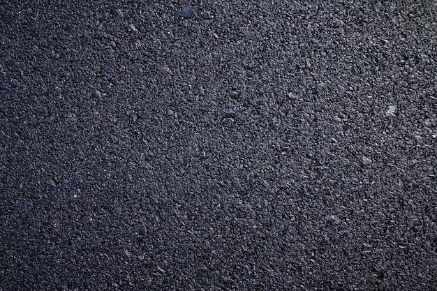 Close-up van nieuwe asfaltweg textuur