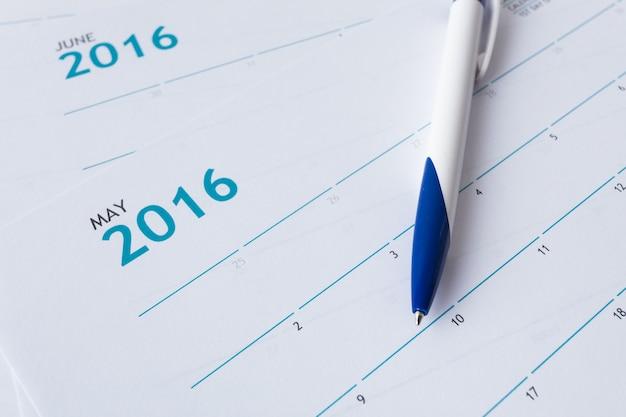 Close-up van nummers op de kalenderpagina