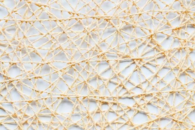 Close-up van onderling verbonden snaren