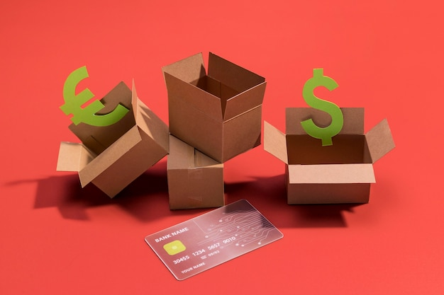 Close-up van online shopping concept