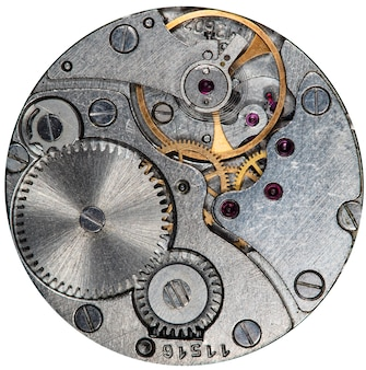 Close-up van oud mechanisch horloge