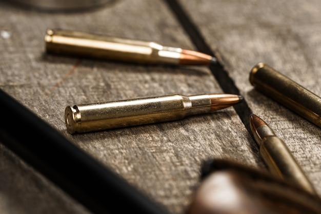 Close-up van patronen voor jachtgeweer