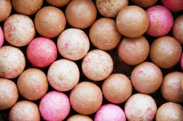 Close-up van poederballen
