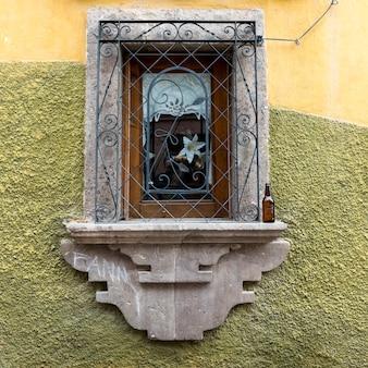 Close-up van raamkozijn, zona centro, san miguel de allende, guanajuato, mexico