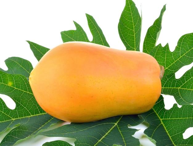 Close-up van rijp papajafruit