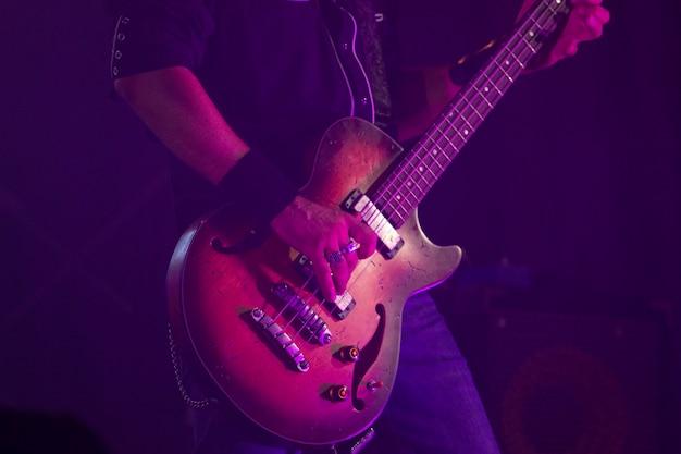Close up van rock gitaar