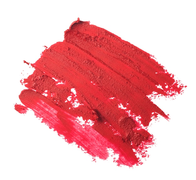 Close-up van rode lippenstift textuur geïsoleerd