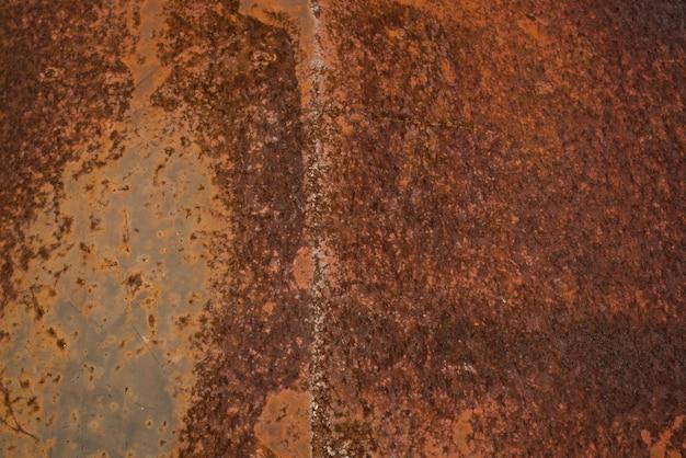 Close-up van roestige metalen textuur