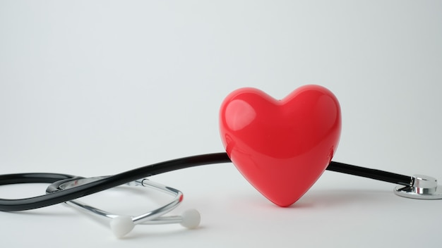 Close-up van rood hart