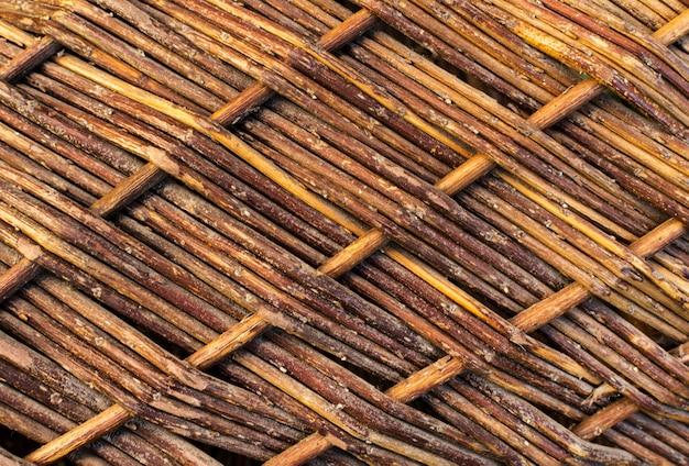 Close-up van rotan weven