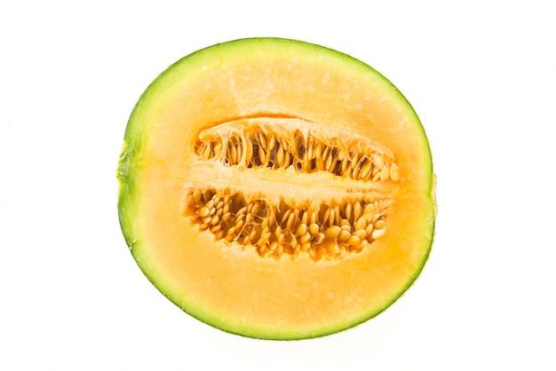 Close-up van sappige meloen