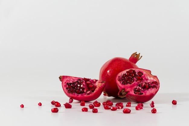 Close-up van smakelijke granaatappel