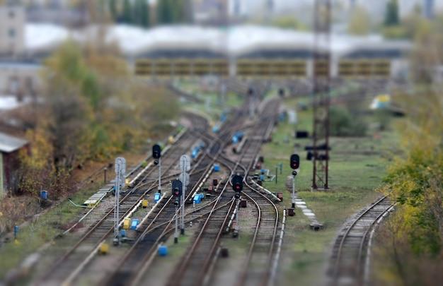 Close-up van spoorwegovergang