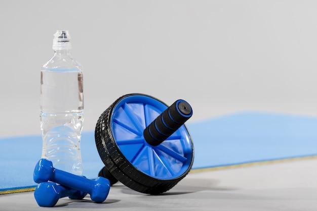 Close-up van sport concept met halters