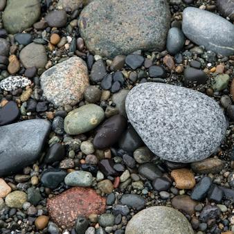 Close-up van steentjes, deception pass state park, oak harbor, washington state, verenigde staten