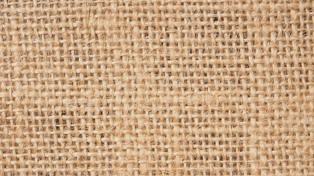 Close up van stof is gemaakt van jute voor textuur en achtergrond.