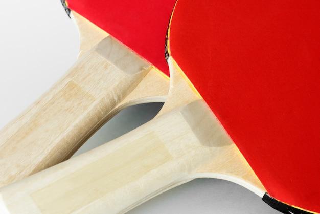 Close-up van tafeltennis spullen