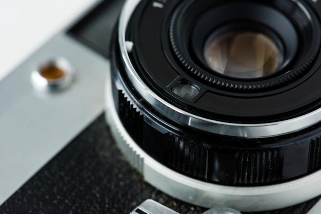 Close-up van uitstekende camera