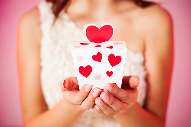Close-up van valentijnsdag geschenk
