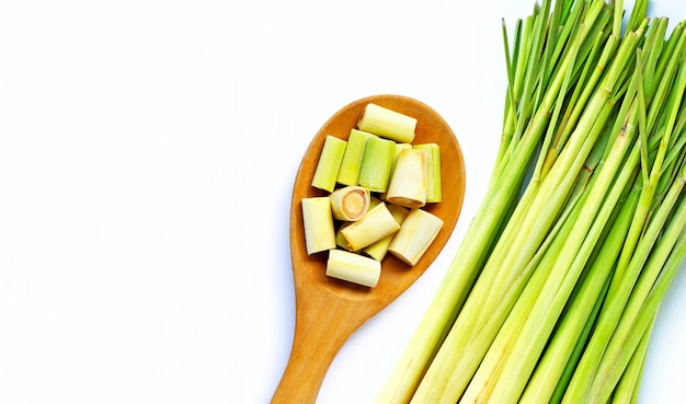 Close-up van vers citroengras