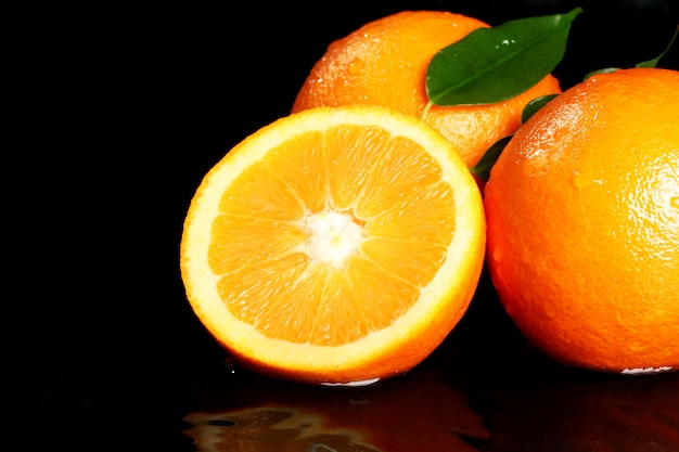 Close up van vers oranje fruit