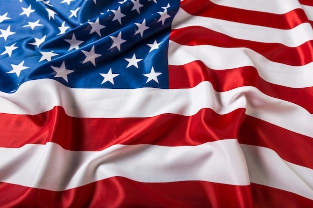 Close-up van verstoorde amerikaanse vlag