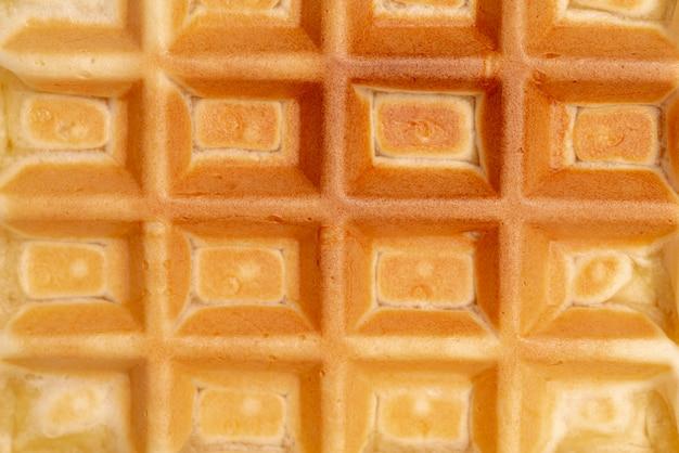 Close-up van wafeltextuur