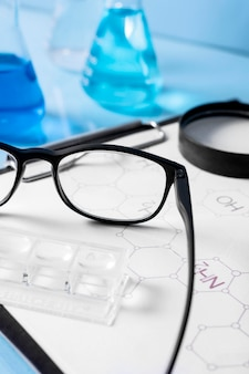 Close-up van wetenschap concept