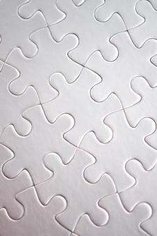 Close-up van witte puzzel voltooid