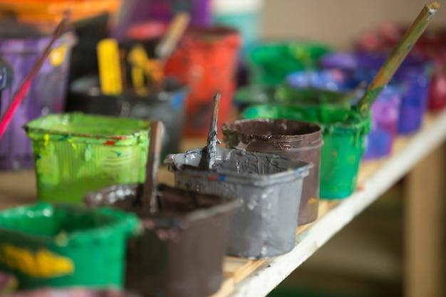 Close-up van zeefdruk inkt