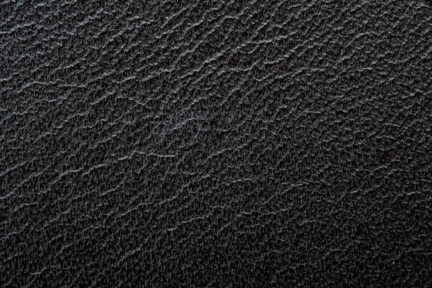 Close-up van zwarte leer textuur achtergrond. voor grafisch en kunstontwerp.