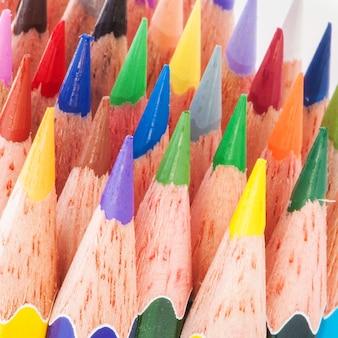 Close-up veelkleurig potlood