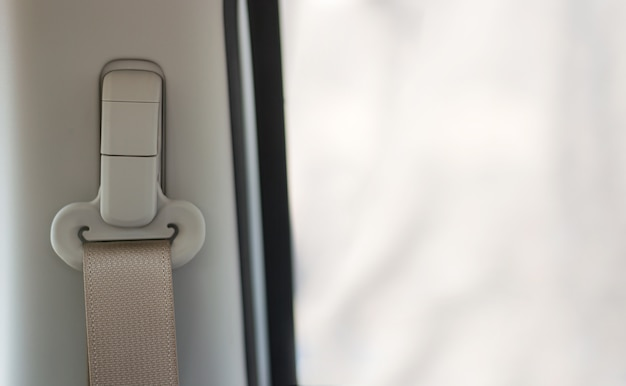 Close-up veiligheidsgordel in auto
