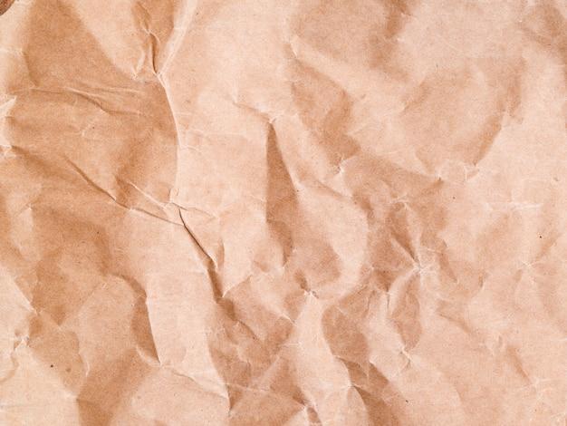 Close-up verfrommeld papier achtergrond