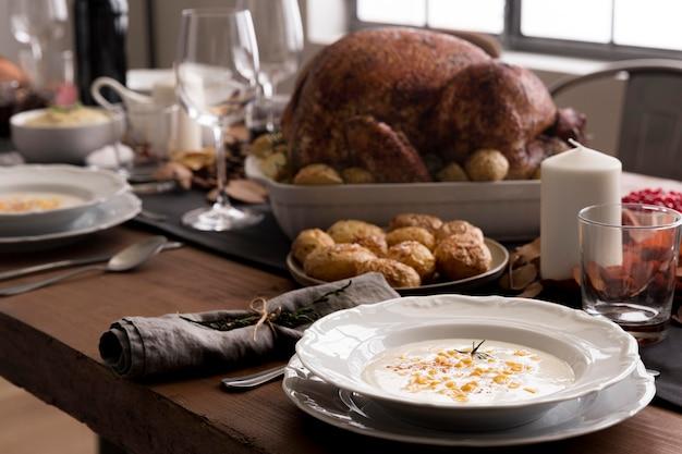 Close-up voedselbereidingen voor thanksgiving day