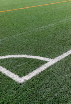 Close-up voetbalveld