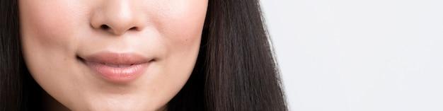 Close-up vrouw gezicht concept
