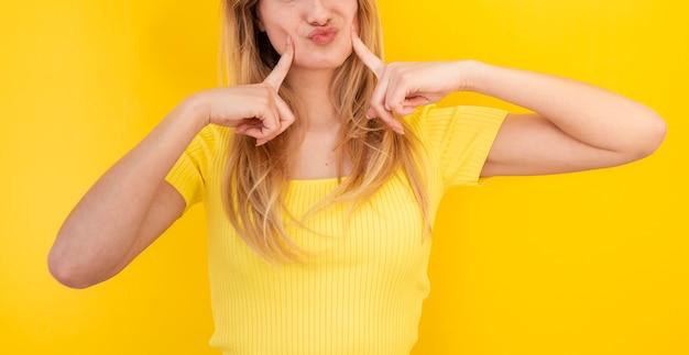 Close-up vrouw poseren