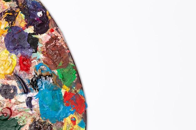 Close-up vuil kleurenpalet