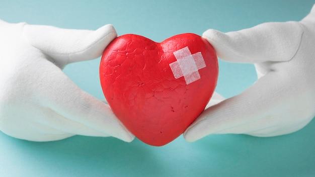 Close-up wereld hart dag concept